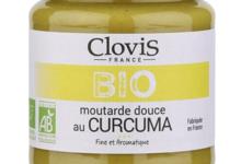 Clovis. Moutarde douce au Curcuma bio