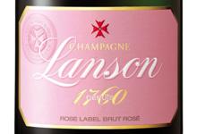 Champagne Lanson. Rose label brut rosé