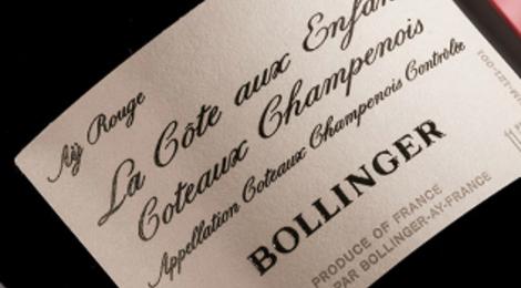Champagne Bollinger. La côte aux enfants