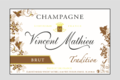 Champagne Vincent Mathieu. Brut tradition