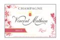 Champagne Vincent Mathieu. Brut rosé