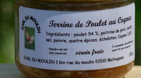 Earl Du Moulin. Terrine de poulet au cognac