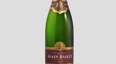 Champagne Alain Bailly. Cuvée grande réserve Extra-dry