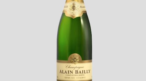 Champagne Alain Bailly. Cuvée grande réserve Demi-sec