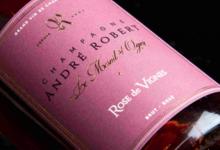 Champagne André Robert. Rose de vignes
