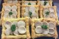 Boucherie CA Pollet. Tartefine boudin blanc sur compote de pommes.