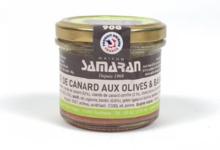 Maison Samaran. Pâté de canard aux olives et basilic