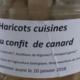 Ferme Cassagne. Haricots cuisinés au confit de canard