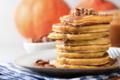 Pancakes à la courge et au sirop d'érable