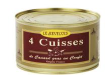 Le Revélois. Cuisses de Canard en Confit (4 Cuisses)