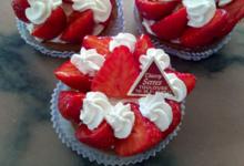 Maison Serres. tartelette aux fraises avec sa crème mascarpone à la vanille
