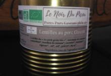 Le Noir du Picou. Lentilles Au Porc Gascon Bio