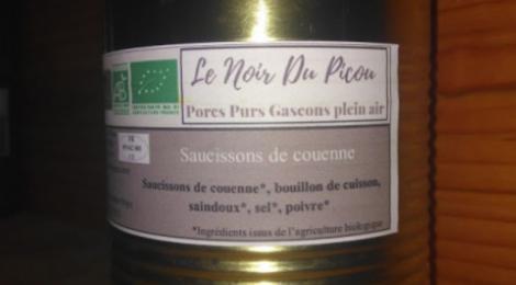 Le Noir du Picou. Saucissons De Couenne