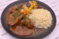goulasch hongrois, riz et légumes d'antan!