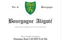 René Cacheux et Fils. Bourgogne aligoté