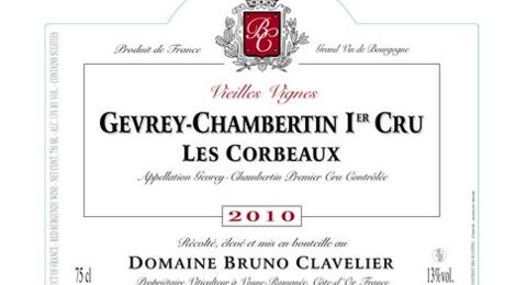 "Domaine Bruno Clavelier. Gevrey-Chambertin 1er cru ""Les Corbeaux"""
