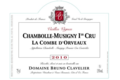 "Domaine Bruno Clavelier. Chambolle-Musigny 1er cru ""La Combe d'Orveau"""