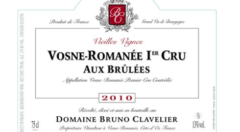 """Domaine Bruno Clavelier. Vosne-Romanée 1er cru """"Aux Brulées"""""""