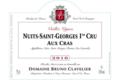 """Domaine Bruno Clavelier. Nuits-Saint-Georges 1er cru """"Aux Cras"""""""