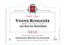 """Domaine Bruno Clavelier. Vosne-Romanée """"Hautes-Maizières"""""""