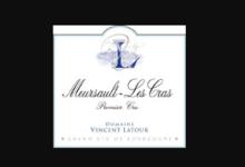Domaine Vincent Latour. Meursault Les Cras premier cru