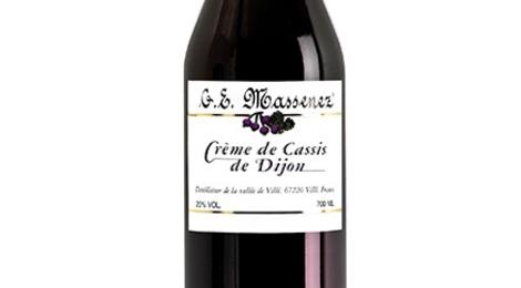 Distillerie Massenez. Crème de cassis de Dijon
