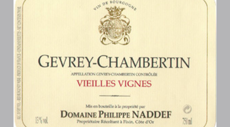 Domaine Philippe Naddef. Gevrey-Chambertin Vieilles Vignes