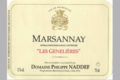 Domaine Philippe Naddef. Marsannay « Les Genelières »