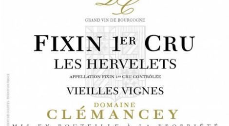 Domaine Clémancey. Fixin 1er cru Les Hervelets