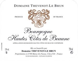 Bourgogne Hautes Cotes de Beaune blanc 2018