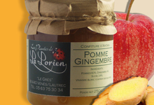 Confiture Pomme-Gingembre 250g.