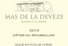 Mas de la Devèze. Côtes du Roussillon blanc élevé en fût de chêne