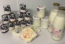 Notre gamme de produits laitiers fermier Bleu Blanc Cœur