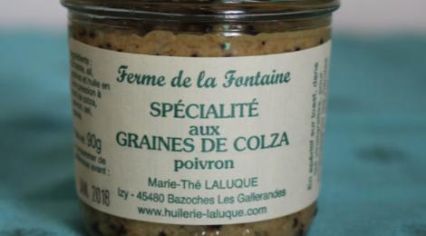 Huilerie Laluque. Tartinade au Poivron et graines