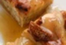 Tatin de figues et framboises au chocolat, sorbet